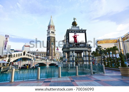 LAS VEGAS - JUNE 4: The Venetian Resort Hotel & Casino on July 17, 2008. The resort opened on May 3, 1999 with flutter of white doves, sounding trumpets, singing gondoliers and actress Sophia Loren.