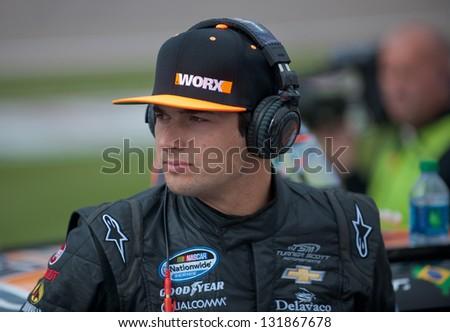 LAS VEGAS - MAR 09: Nelson Piquet Jr at the Nascar Sams Town 300 in Las Vegas, NV on Mar 09, 2013