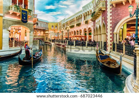 LAS VEGAS - 31 MAY 2017 - Caesars Palace is a AAA Four Diamond luxury hotel and casino in Paradise, Nevada, United States.  #687023446