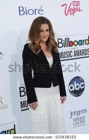 LAS VEGAS - MAY 20: Lisa Marie Presley at the 2012 Billboard Music Awards held at the MGM Grand Garden Arena on May 20, 2012 in Las Vegas, Nevada