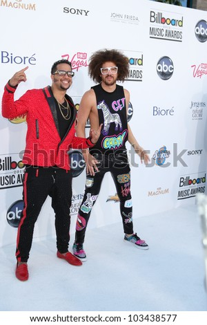 LAS VEGAS - MAY 20: LMFAO at the 2012 Billboard Music Awards held at the MGM Grand Garden Arena on May 20, 2012 in Las Vegas, Nevada