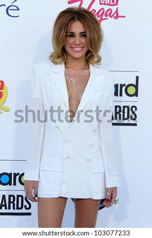 LAS VEGAS - MAY 20:  Miley Cyrus arrives at the 2012 Billboard Awards at MGM Garden Arena on May 20, 2012 in Las Vegas, NV