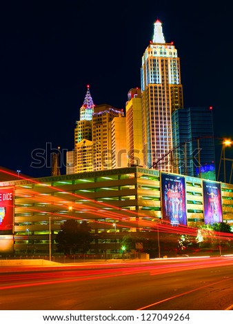 LAS VEGAS - MAY 23: New York New York Hotel and Casino on May 23, 2012 in Las Vegas.  The New York New York opened in the year 1997.