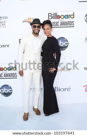 LAS VEGAS - MAY 20: Swizz Beatz, Alicia Keyes at the 2012 Billboard Music Awards held at the MGM Grand Garden Arena on May 20, 2012 in Las Vegas, Nevada