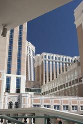 Las Vegas Modern Hotel Buildings. HDR Image. Vertical Orientation