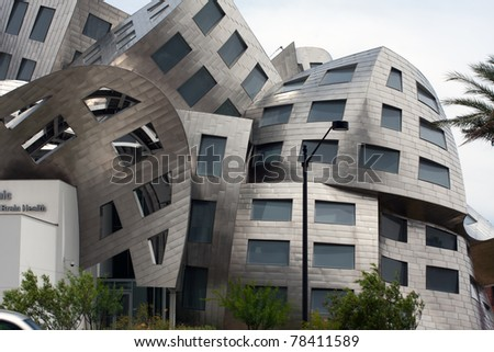 "LAS VEGAS NEVADA - JUNE 1: Modernist architect Frank Gehry's creation ""The Cleveland Clinic Lou Ruvo Center for Brain Health""  on June 1, 2011 in Las Vegas Nevada. Gehry  is a  Pritzker prize winner"