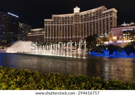 Las Vegas Nevada May 29 Bellagio Hotel On May 29 2015 In Las Vegas Nevada Usa Bellagio Is A Luxurious Hotel Famous With Its Fountains Stock Images Page Everypixel