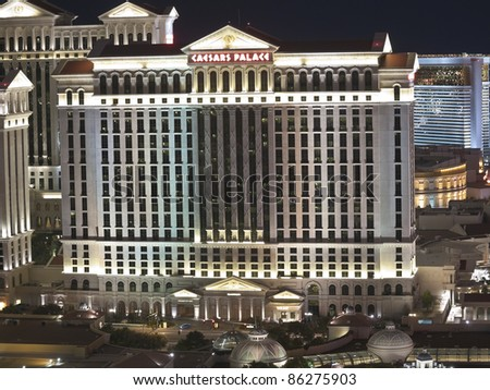 LAS VEGAS, NEVADA - OCT. 6: Caesars Palace announced it will open the new Octavius Tower in January of 2012 on October 6, 2011 in Las Vegas, Nevada. Caesars currently has 3349 hotel rooms. - stock photo