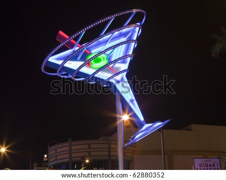 LAS VEGAS, NEVADA - OCTOBER 10:  Restored giant neon signs successfully attract tourists to the newly revitalizied Fremont Street East district in downtown, October 10, 2010 in Las Vegas, Nevada.