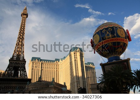 Las Vegas, Nevada - Replica of Eiffel Tower at the Paris Hotel