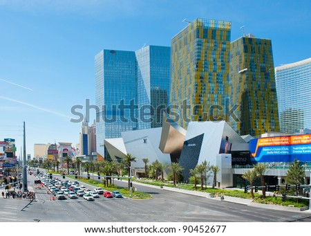 LAS VEGAS, NEVADA, USA - CIRCA APRIL 2011: The Las Vegas Strip is famous for Hotels and Casino