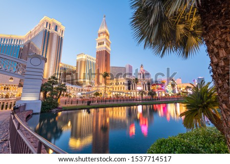 Las Vegas, Nevada, USA cityscape along the strip at twilight. Stock fotó ©