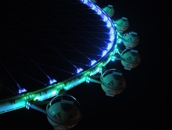 Las Vegas, Nevada, USA -  Night picture of The High Roller Ferris Wheel