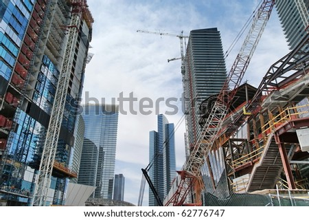 LAS VEGAS:  New Construction. There is a huge development in Las Vegas. More than 80 high-rise, condo, hotel, mixed-use and other major projects in the Las Vegas area are in various stage