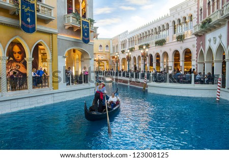 LAS VEGAS - NOV 19 : Venetian Resort Hotel & Casino on November 19, 2012 in Las Vegas. Las Vegas in 2012 is projected to break the all-time visitor volume record of 39-plus million visitors