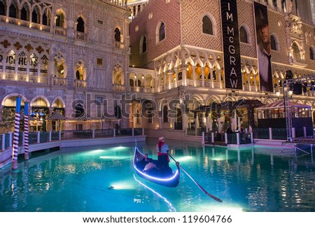 LAS VEGAS - NOVEMBER 08: Venetian Resort Hotel & Casino on November 08, 2012 in Las Vegas. Las Vegas in 2012 is projected to break the all-time visitor volume record of 39-plus million visitors