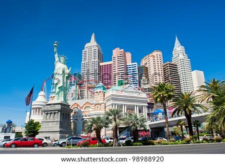 LAS VEGAS NV - CIRCA APRIL 2011: New York - New York Hotel & Casino circa April, 2011 in Las Vegas, Nevada, USA. New York New York is a luxury hotel and casino located on the Las Vegas Strip