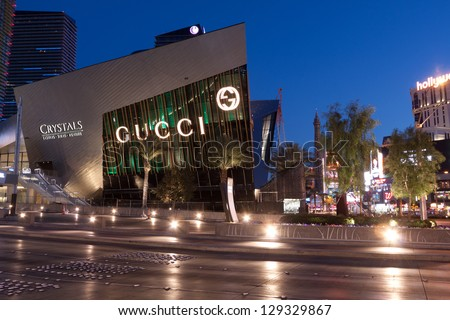 LAS VEGAS, NV - FEBRUARY 17:  The Crystals at City Center Retail District added over 500,000 s.f. of shopping on the Las Vegas Strip in Nevada, February 17, 2013.