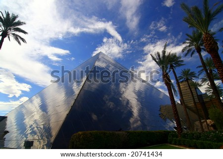 LAS VEGAS, NV - SEP 1: The reflection from the Pyramid in Vegas September 1, 2007 in Las Vegas, NV