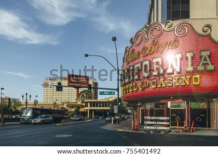 Las Vegas October 20 2017 The California Hotel And Casino In Las