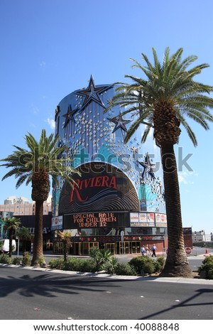 LAS VEGAS - SEPTEMBER 18: A classic Las Vegas Strip property, the Riviera Hotel and Casino has been in operation for over five decades. Shown here on September 18, 2008 in Las Vegas, Nevada
