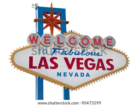 Las Vegas Sign, includes clipping path