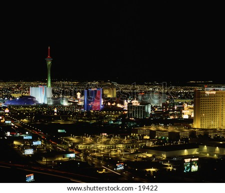 Las Vegas skyline eastern side.