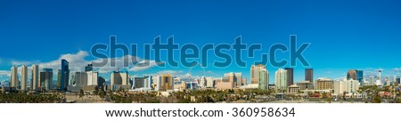 Las Vegas skyline from a distance during day time #360958634