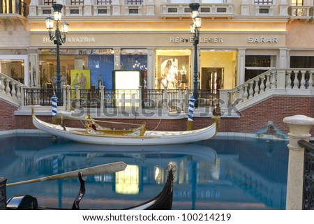 LAS VEGAS, US - APRIL 10:Inside the Venetian Resort Hotel Casino on April 10, 2012 in Vegas, US. A Venetian is part of the largest 5 star hotel resort with 4049 suites 4059 hotel rooms 11000sqm casino