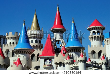 Las Vegas Us June 12 2013 The Colorful Cone Castle Casino In