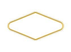 Las Vegas welcome sign light bulb diamond shape with center cut out.