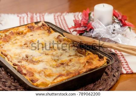 lasagne on table #789062200