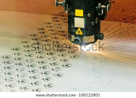 Laser cutter at work