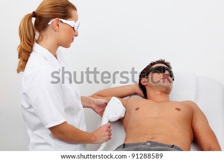 laser hair removal in professional studio