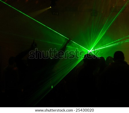 laser light in the night club