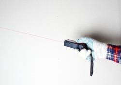 laser range finder builder hand in glove