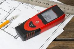 Laser range finder. Builder tool