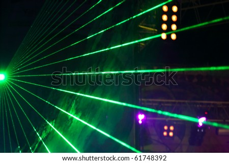 laser show on a fate concert