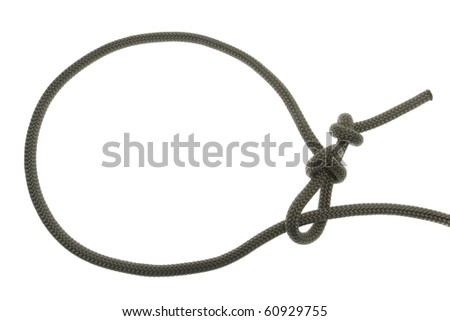 Lasso knot. isolated on white background