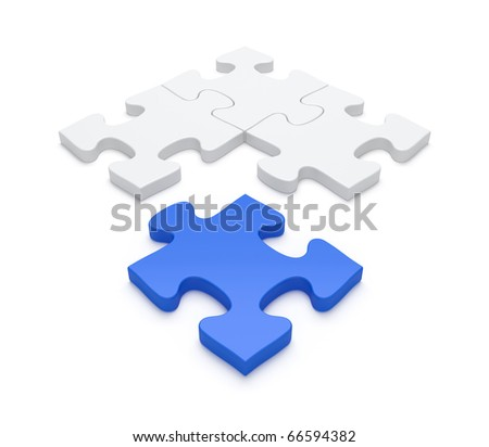 Last blue piece of puzzle