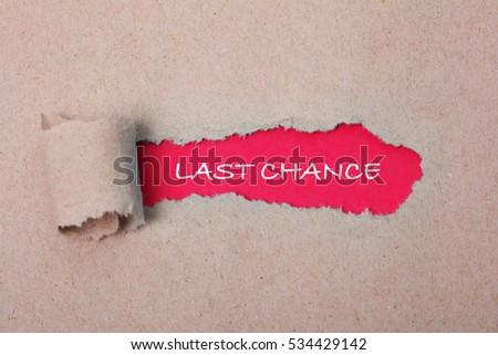Last Chance, Business Concept
