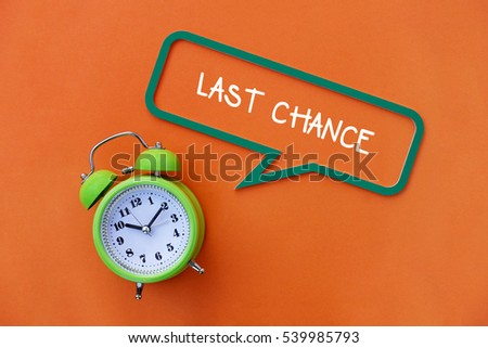 Last Chance, Business Concept #539985793