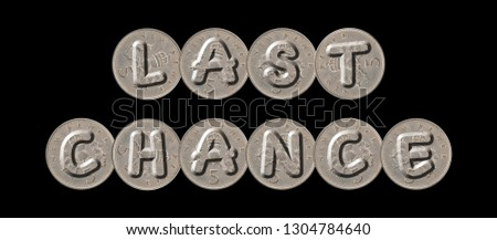 LAST CHANCE – five new pence coins on black background #1304784640