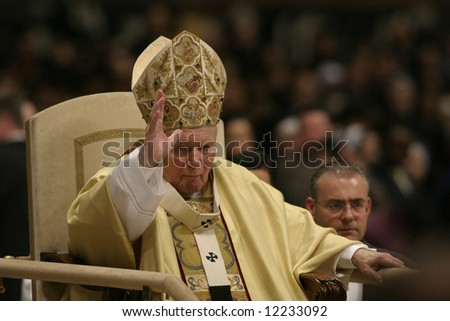 Last Christmas ceremony with pope John Paul II in Basilica of saint Peter in Vatican (25.12.2004).