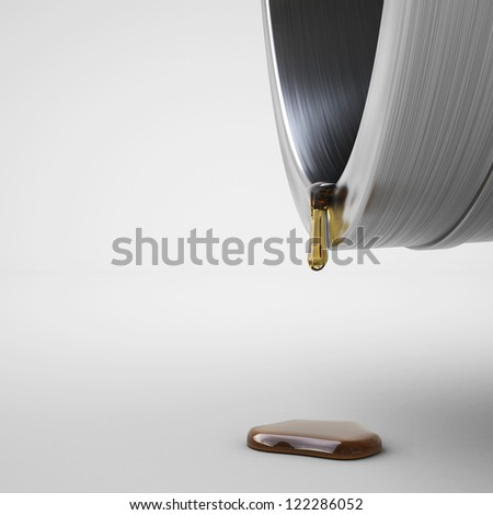 Last drop of fuel, over white background