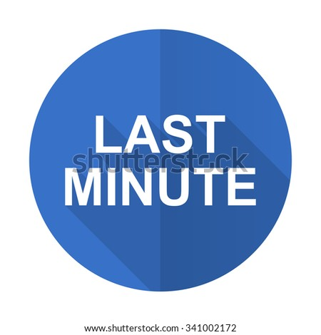 Royalty free last minute blue web flat design circle for Last minute design hotel