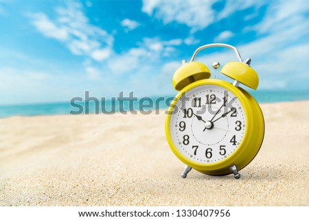 Last Minute - Summertime Concept - Alarm In Tropical Beach #1330407956