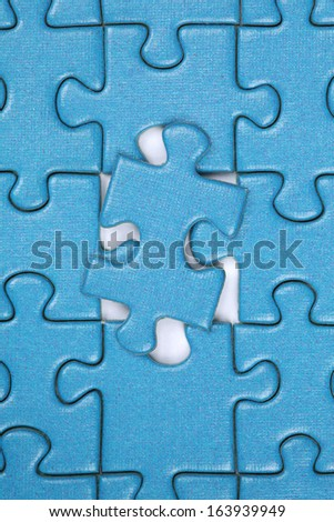 Last piece in a jigsaw puzzle, concept problem solution and strategy