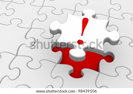 Last piece of a jigsaw puzzle falling into place - solution or answer concept