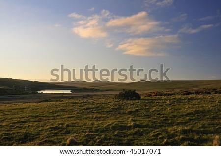 Last Sun on Brockabarrow Common, Bodmin Moor, Cornwall